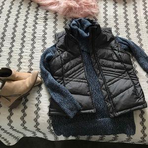 Charcoal gray Loft puffer vest